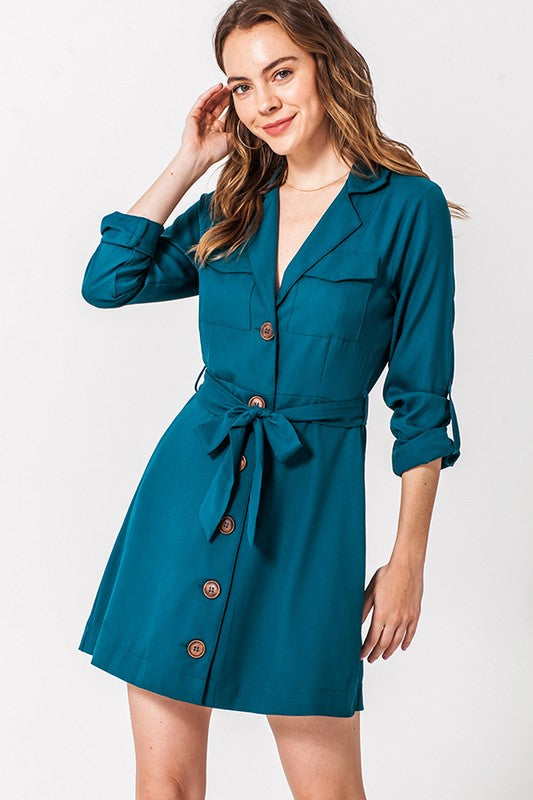 Hunter Button Down T-Shirt Dress