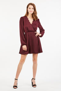 Karlee Long Sleeve Wrap Dress