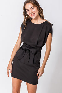 Lydia Split Sleeve Dress with Waist Tie - Other Colors Available