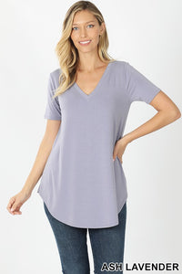 Kay V-Neck Short Sleeve Top - Other Colors Available