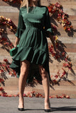 Madison Satin Ruffle Dress - Other Colors Available