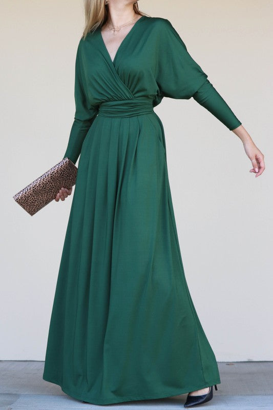 Edie Dolman Sleeve Jersey Maxi Dress