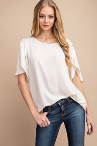 Gwen Flutter Sleeve Top - Available in Mauve
