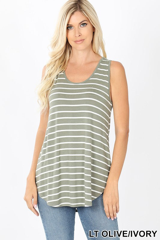 Keaton Relaxed Striped Tank - Other Colors Available
