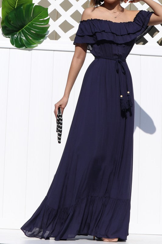 Rylee Off The Shoulder Maxi Dress