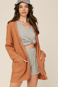 Kenya Textured Button Cardigan - More Colors