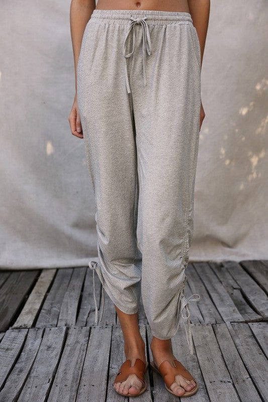 Rainey Side Ruched Sweatpants - More Colors