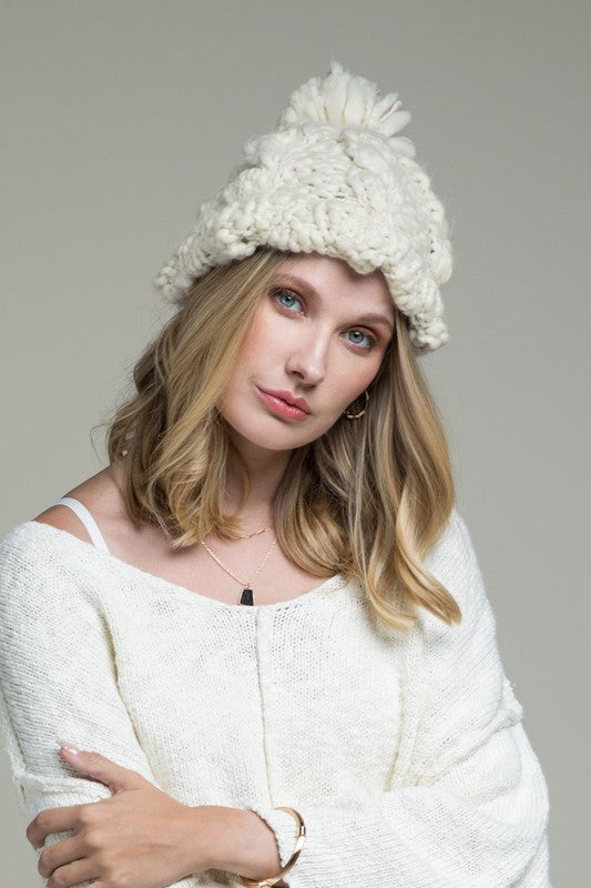 Chunky Cable Knit Hat - More Colors