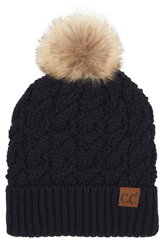 Knit Beanie with Pom - More Colors