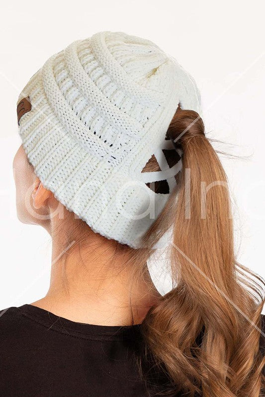 Ponytail Beanie - More Colors