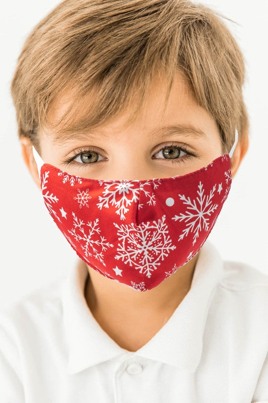 Snowflake Kids Face Mask