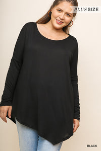 Audrey Dolman Sleeve Solid Top - Plus Size