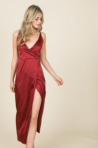 Paisley Satin Midi Dress - Other Colors Available