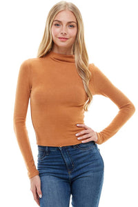 Lila Mock Neck Fitted Top