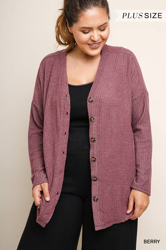 Kasandra Button Front Cardigan - Plus Size