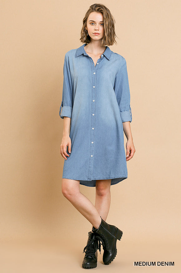 Allie Denim Button Down Dress