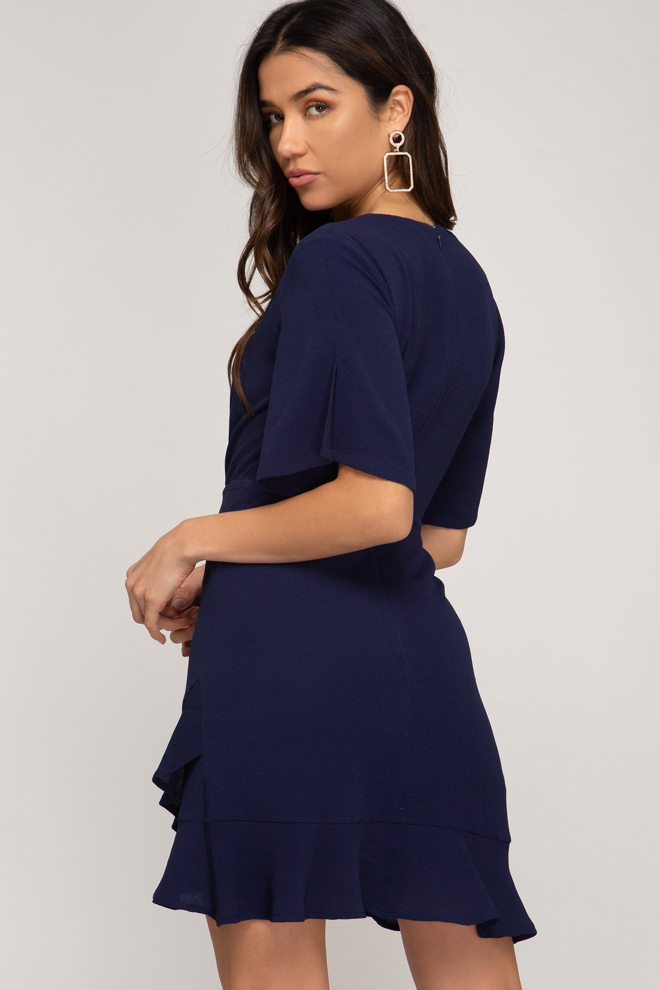 Tess Flutter Sleeve A-Line Dress - Other Colors Available
