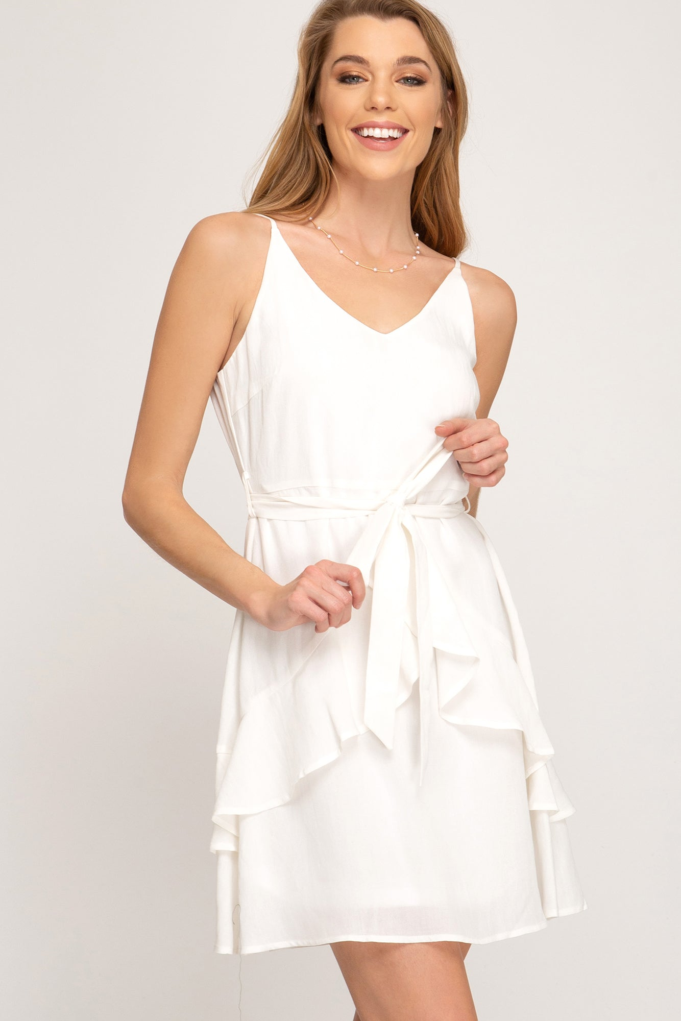 Rebecca Ruffled Hem Dress