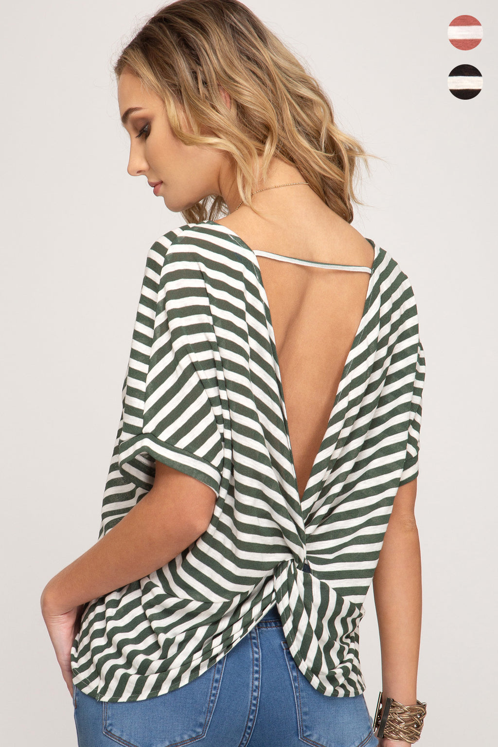 Open Back Knotted Top