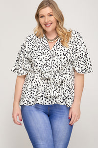 Sare Front Tie Top - Plus Size