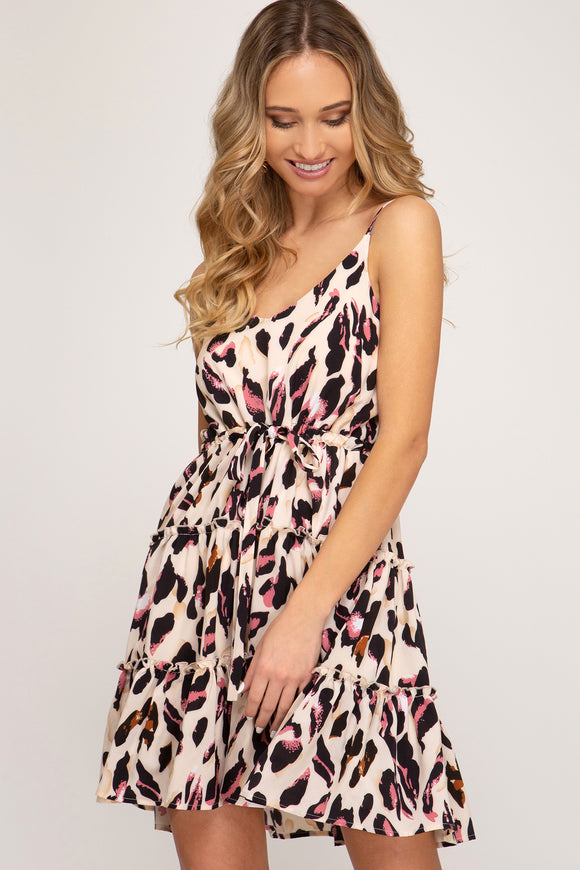 Kinley Printed Flounce Dress