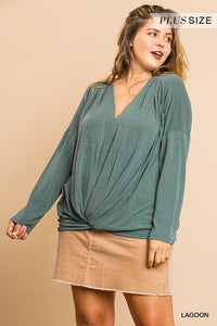 Finley Top with Knot Detail - Plus Size
