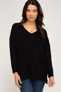 Nell V-Neck Sweater - More Colors - Plus Available