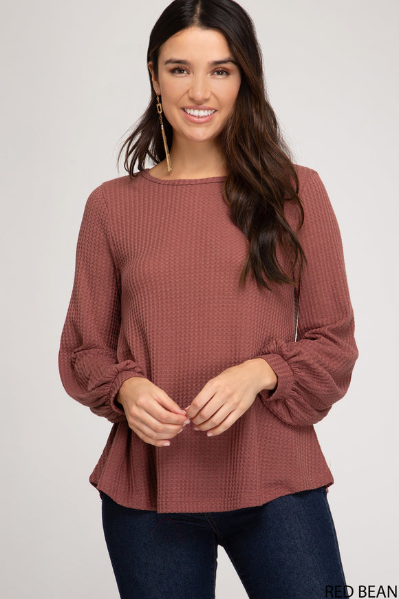 Maggie Waffle Knit Top - More Colors