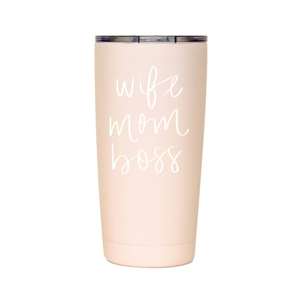 Wife. Mom. Boss. - Metal Travel Mug