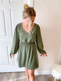 Juniper Long Sleeve Dress with Ties