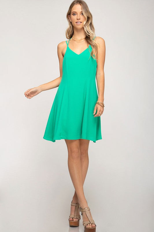 Strappy Back Solid Dress - Other Colors Available