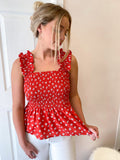 Lenny Smocked Floral Top