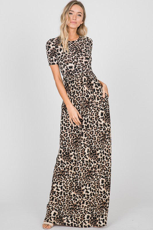 Everly Animal Print Maxi Dress