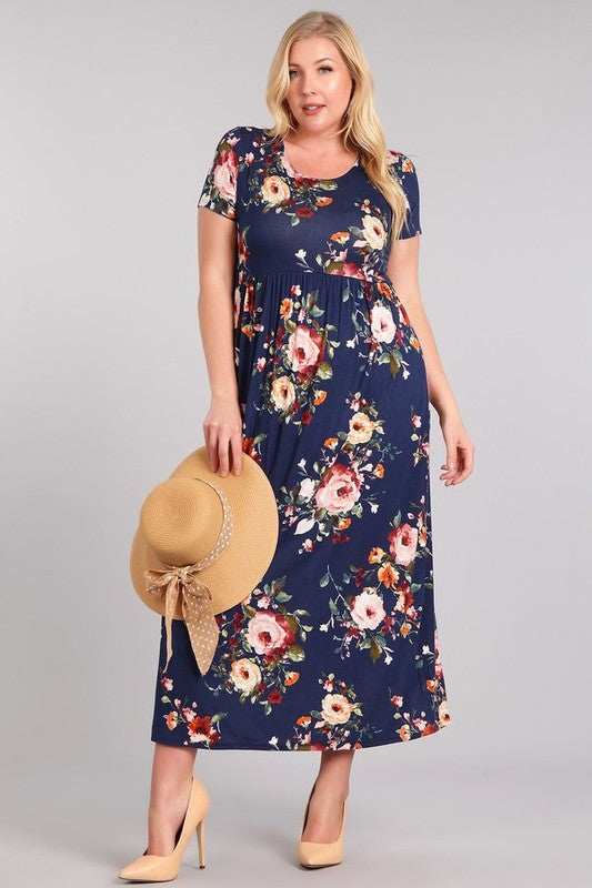 Chloe Floral Maxi Dress - Plus Size