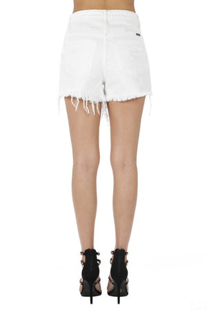 KanCan High-Rise White Distressed Short