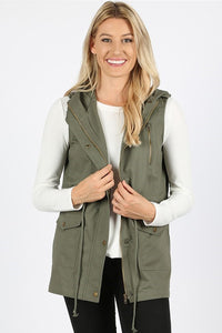 Greta Military Vest - Reg & Plus Size