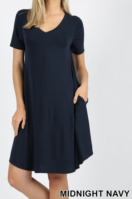 T-Shirt Dress w/ Pockets