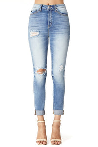 KanCan Super High-Rise Distressed Skinny Jean