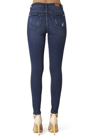Judy Blue Dark Blue Distressed Jeans