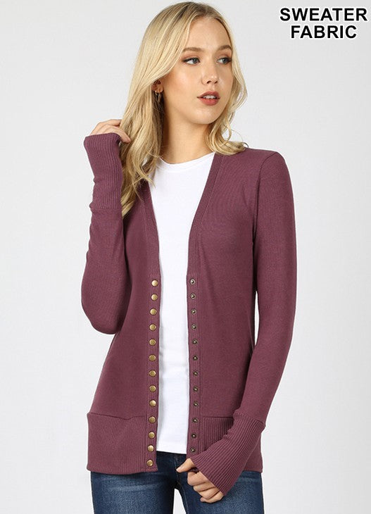 Jolie Cardigan with Snap Buttons - Other Colors Available