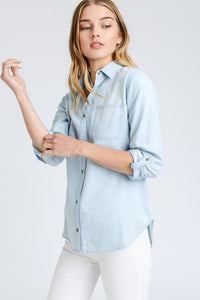 Anne Button Down Denim Shirt - Others Colors Available