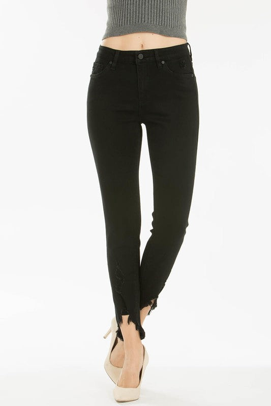 KanCan Black High Rise Distressed Skinny Jeans