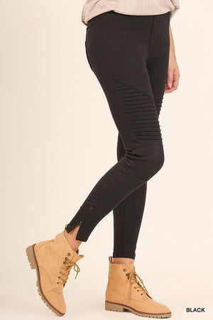 Moto Jeggings - Other Colors Available