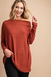 Amelia Off-Shoulder Tunic - Other Colors Available