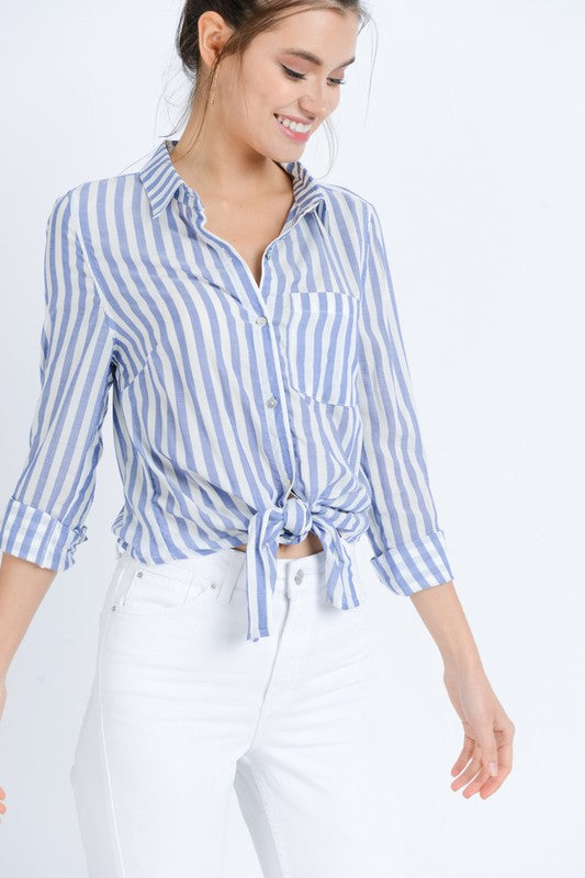 Michelle Striped Button Down Shirt