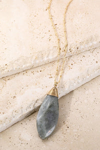 Oval Natural Stone Necklace - Other Colors Available