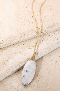 Oval Natural Stone Necklace - More Colors
