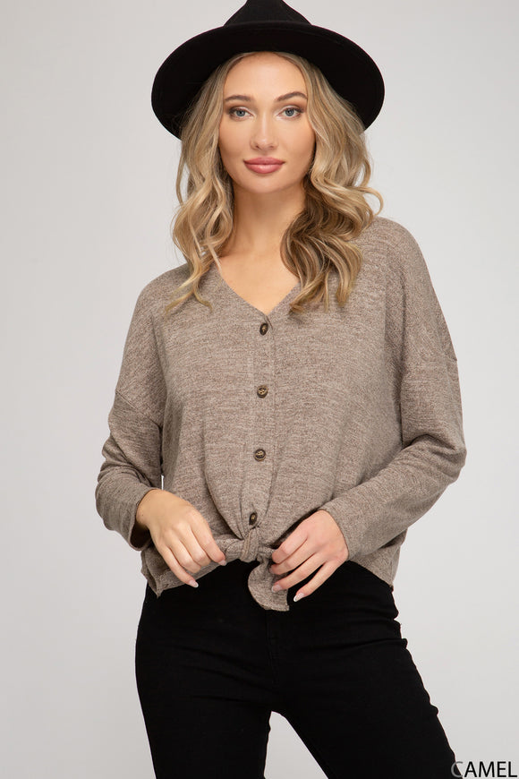Allie Button Front Top - More Colors