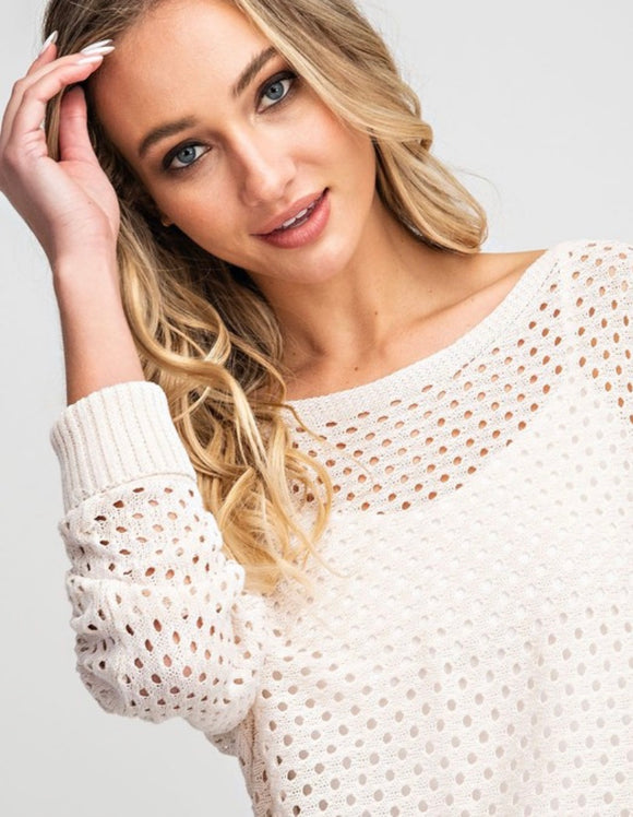 Courtney Eyelet Knit Sweater - More Colors