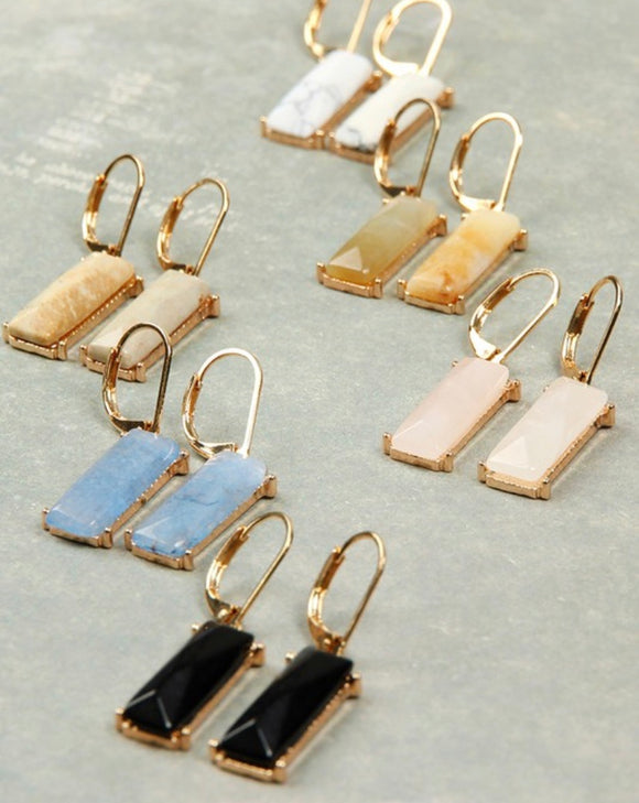 Athena Natural Stone Earrings